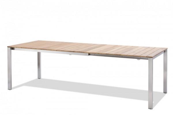 GRÖNLAND Gartentisch Teak Grösse: 150/210x90 cm