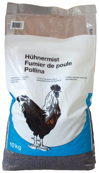 Hühnermist gewürfelt