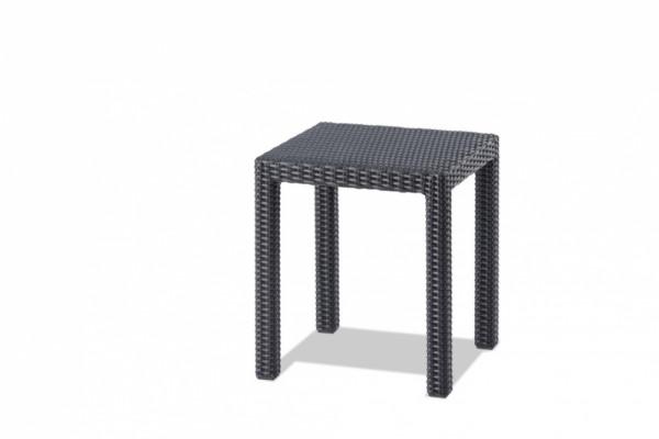 Sydney Loungetisch Gestell Aluminium und Rattan