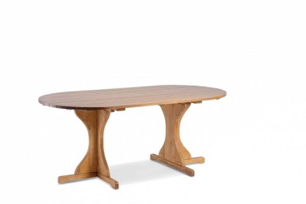 Excellent Gartentisch Braun Grosse 180x100 Oval Massivholz