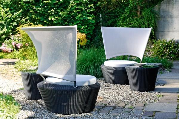 SINGLE Gartenstuhl Geflecht 2mm schwarz