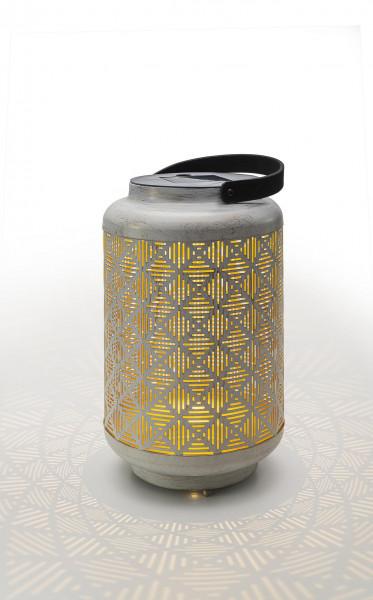 LED Laterne Vintage whitegold