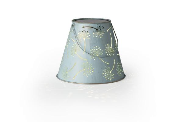 LED Laterne antic Dandelion lightblue