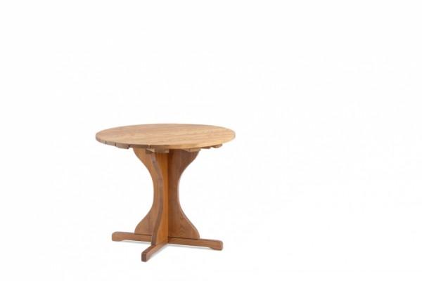 Excellent Gartentisch Braun Grosse 100 Rund Massivholz