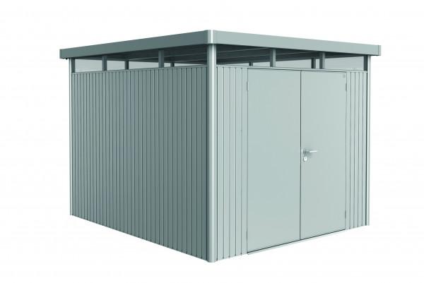 Gerätehaus HighLine H5 silber-met. mit Doppeltür 275x315x222 cm