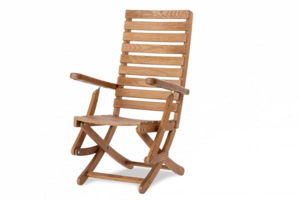 EXCELLENT Gartenstuhl hoch verstellbar braun | Massivholz ...