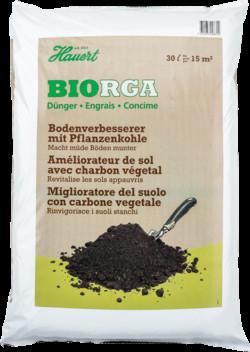 Biorga Bodenverbesserer mit Pflanzenkohle 15kg