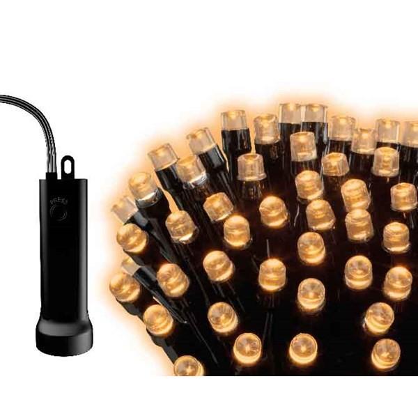 LED Lichterkette batteriebetrieben, schwarzes Kabel