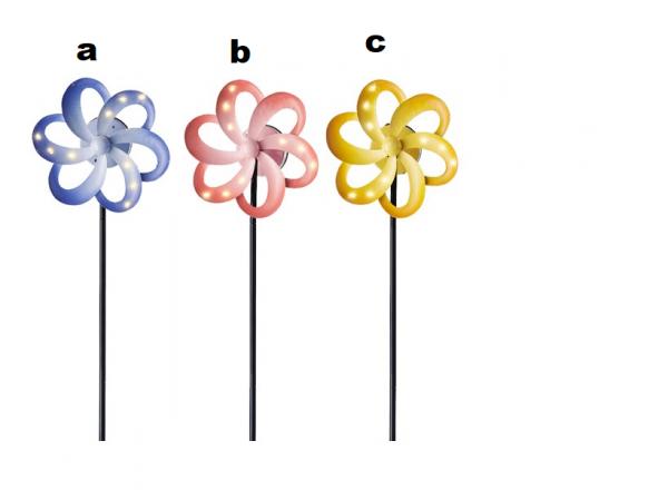 LED Solar Stabbeleuchtung Blume