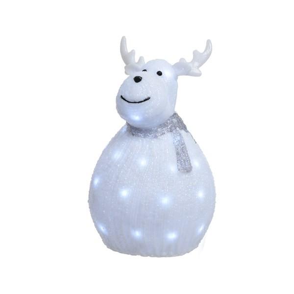 LED acrylic Hirsch mit Schal breit