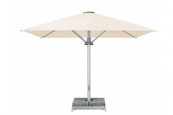 Sonnenschirm Palazzo Style Sonnenschirm ohne Volant, Gestell Alu eloxiert