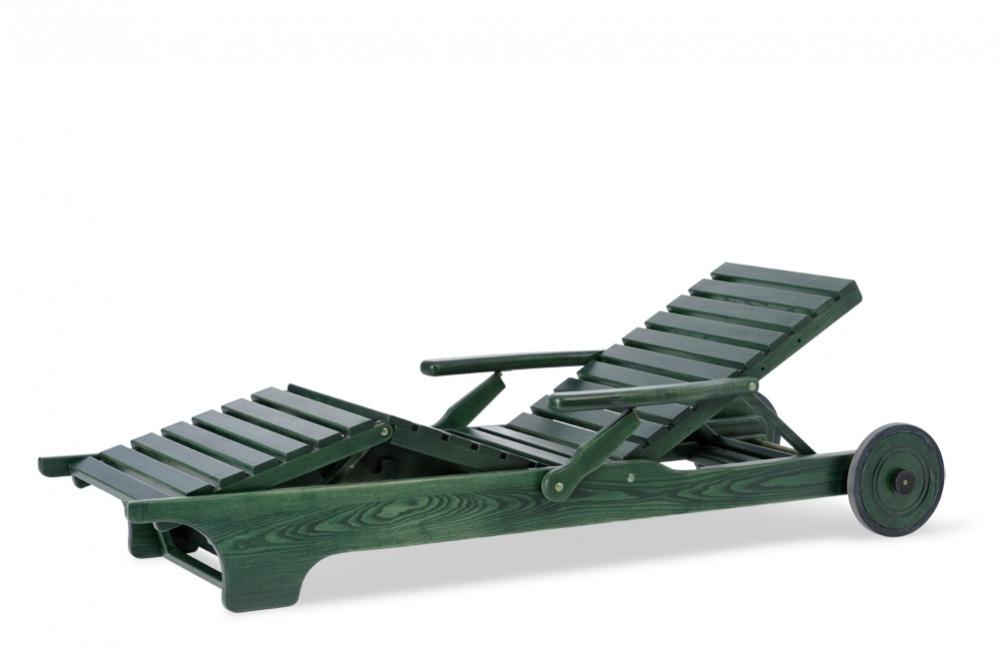 EXCELLENT Liegestuhl verstellbar grün Esche grün Massivholz Gartenmöbel Hunn Gartenmöbel  ~ 18031819_Liegestuhl Mehrfach Verstellbar