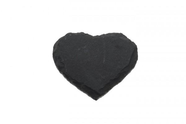 Schieferplatte Herz klein