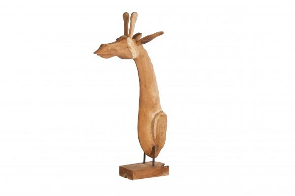 Giraffe aus Teakholz