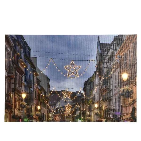 LED Bild Weihnachts-Stadt